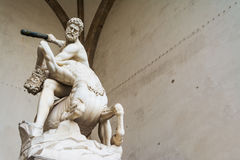 Hercules and Nesso centaur statue Stock Image