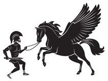 Hercules and Pegasus. Figure depicts Hercules and Pegasus Royalty Free Stock Photography