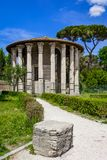 hercules rome tempelvictor Royaltyfri Bild