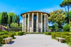 hercules rome tempelvictor Royaltyfri Foto