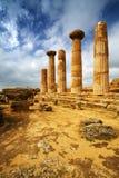 hercules sicily tempel royaltyfria bilder