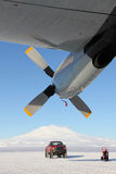 Hercules ski plane in Antactica Stock Photography