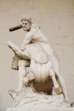 Hercules som slår Nessus, Florence, Italien Fotografering för Bildbyråer