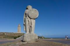 Hercules statua Obrazy Royalty Free