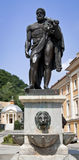Hercules statue. In Romania on sunny day Stock Image