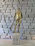 Hercules. Statue of Hercules in gilded bronze in Capitoline Museum Royalty Free Stock Photos