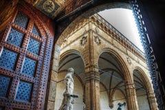 Hercules statue and Loggia de lanzi in Piazza della Signoria Royalty Free Stock Photography