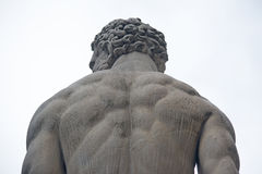 Hercules statue seen from behind Royalty Free Stock Photos