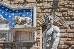 Hercules statue at Signoria square in Florence, Italy Stock Photos