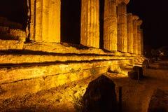 Hercules Temple no parque arqueológico de Agrigento sicília imagens de stock royalty free