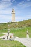 Hercules torn, en Coruña, Galicia, Spanien Royaltyfri Bild