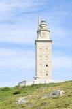 Hercules torn, en Coruña, Galicia, Spanien Royaltyfri Fotografi