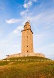 Hercules torn (fyr) l i La Coruna, Spanien. Fotografering för Bildbyråer