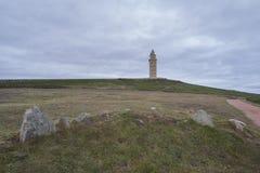 Hercules Tower Royaltyfri Fotografi