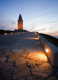 Hercules tower at blue hour Royalty Free Stock Photography