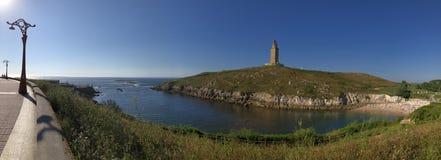 Hercules Tower en el La Coruña España fotografía de archivo libre de regalías