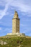 Hercules tower La Coruna Galicia, Spain. Stock Images