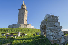 Hercules tower. royalty free stock images