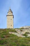 Hercules Tower in Spain. Hercules tower, La Coruña, Galicia, Spain Stock Photos