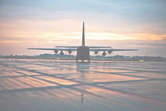 Hercules transporting plane Royalty Free Stock Photo