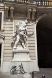Hercules white stone statue Stock Photo
