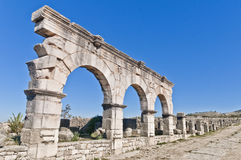 Hercules Works House at Volubilis, Morocco Royalty Free Stock Image