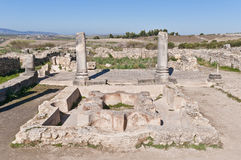 Hercules Works House at Volubilis, Morocco Royalty Free Stock Photography