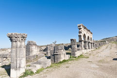 Hercules Works House at Volubilis, Morocco Stock Photos
