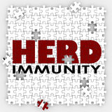 Herd Immunity Vaccine Puzzle Protect Community Society Royalty Free Stock Photography