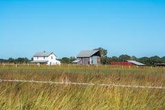 Herdade de Amish em Autumn Day claro fotos de stock