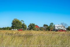Herdade de Amish em Mississippi norte fotos de stock royalty free