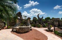 HERDADE, FL 23 DE JUNHO DE 2014: Coral Castle ao norte da cidade o Fotos de Stock