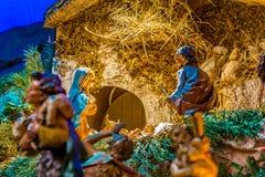 Herdar som älskar, behandla som ett barn Jesus Royaltyfri Foto