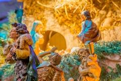 Herdar som älskar, behandla som ett barn Jesus Arkivfoton