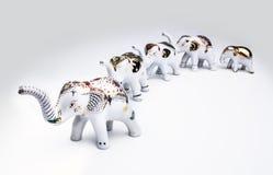 Herde des Elefanten keramisch, Produkt von Thailand. Stockbild