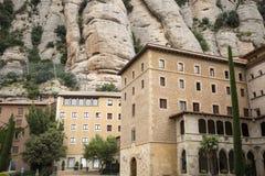 Herde- koordinationsmitt av den Montserrat abbotskloster, Catalonia, Spanien Arkivfoton