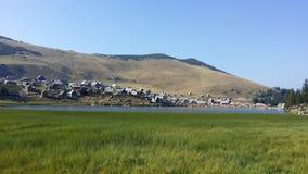 Herde- by- och bergsjö Fotografering för Bildbyråer