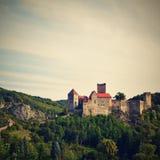 Herdegg Beau vieux château dans la campagne gentille de l'Autriche Vallée de Thaya de parc national, Basse Autriche - Europe image stock