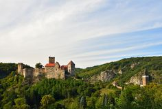 Herdegg Beau vieux château dans la campagne gentille de l'Autriche Vallée de Thaya de parc national, Basse Autriche - Europe photo stock