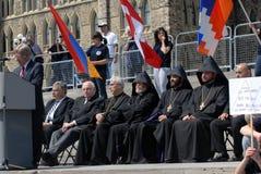 Herdenking van Armeense Volkerenmoord Royalty-vrije Stock Foto
