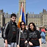 Herdenking van Armeense Volkerenmoord Stock Afbeeldingen