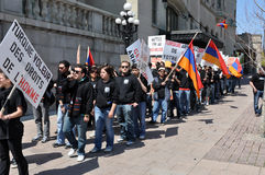 Herdenking van Armeense Volkerenmoord Royalty-vrije Stock Foto's