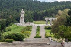 Herdenkings complex Hristo Botev in historische stad van Kalofer, Plovdiv-Gebied, Bulgarije royalty-vrije stock foto's