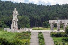 Herdenkings complex Hristo Botev in historische stad van Kalofer, Plovdiv-Gebied, Bulgarije stock fotografie