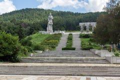 Herdenkings complex Hristo Botev in historische stad van Kalofer, Plovdiv-Gebied, Bulgarije royalty-vrije stock afbeelding