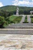 Herdenkings complex Hristo Botev in historische stad van Kalofer, Plovdiv-Gebied, Bulgarije stock afbeelding