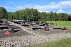 Herdenkings complex in Khatyn Stock Afbeeldingen