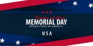 Herdenkings Dag Herinner me en eer De V.S. Amerikaanse Vlag royalty-vrije illustratie