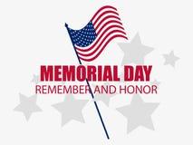 Herdenkings Dag Herinner me en eer Vlag van de Verenigde Staten Vector royalty-vrije illustratie