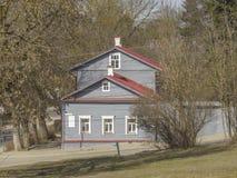 Herdenkings huis-Museum van KE Tsiolkovsky Kaluga stock afbeelding